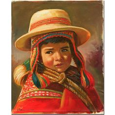 Nino Andino by Jimenez Painting Print on Wrapped Canvas
