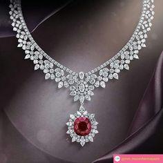 @mm_mucevhermagazin. By @mouawadjewelry #ruby #diamonds #necklace