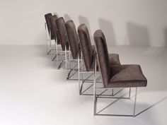 Dining chairs by Milo Baughman for Thayer Coggin, circa 1970s