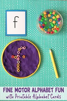 A great activity for early readers/writers, developing alphabet awareness whilst also exercising and strengthening fingers - in three different ways!