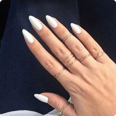 acrylic nails oval shape - Google Search