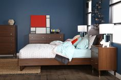 Olly Mid-Century Modern Queen Platform Bedroom Collection | Wayfair