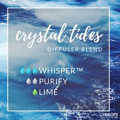 I am officially obsessed with Whisper, it smells sooo good. Try it in this diffuser blend for a happy, clean scent! #diffuserblends #diffuser #crystal #sea #water #happy #clean #purifying #the365life