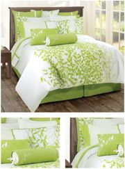Brighten up your modern bedroom just in time for summer with bright and fresh bedding from Lawrence Home. Each duvet set has optional features so . Bedroom Orange, Bedroom Colors, Bedroom Decor, White Bedroom, Bedroom Ideas, Bright Bedding, Green Comforter, Green Duvet Covers, Baby Room Design