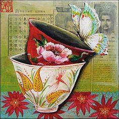 O temas florais de Sophie Adde