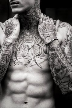 Chest Tattoo with Sleeves Matching