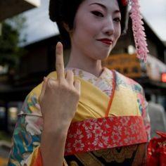Geisha - with attitude.