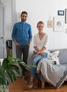 Home Tour chez la bloggeuse Mademoiselle Claudine. Appartement Parisen. Salon / Home Tour home blogger Mademoiselle Claudine. Parisian apartment. Living room