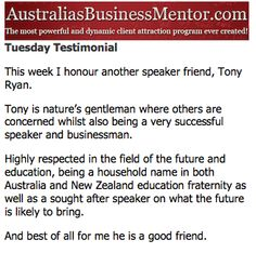 #geoffkirkwood #austbusinessmentor #tonyryan #future #education