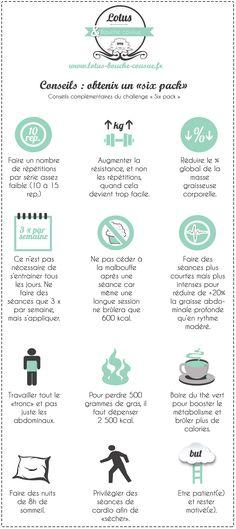 Des conseils pour avoir un ventre plat Challenge : Le programme ventre plat abdos en béton « Six pack » #Conseils_Sport_Lotus