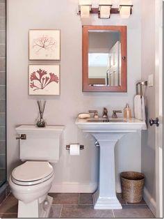 Decorating Ideas For That Wall Behind The Loo O Kelly Bernier Designs Small Half BathroomsSmall