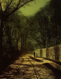 One of my favourite Atkinson Grimshaw moonscapes.