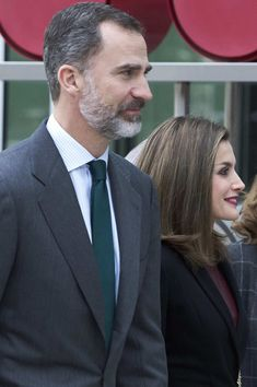 King Felipe VI of Spain and Queen Letizia of Spain visit CNIC (National Center for Cardiovascular Research Foundation) on February 9, 2017 in Madrid, Spain.
