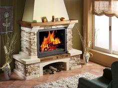 4 estilos de chimeneas para no pasar frío este invierno Cottage Fireplace, Home Fireplace, Faux Fireplace, Living Room With Fireplace, Fireplace Design, Fireplace Mantels, Wooden Mantle, Outside Fireplace, Brick Siding