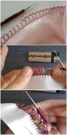 Cıvıl Cıvıl Tığ Oyası Tren Yolu Modeli Filet Crochet, Crochet Lace Edging, Crochet Stitches, Lace Tattoo, Lace Bows, Needle Lace, Embroidery Fashion, Seed Bead Earrings, Antique Lace
