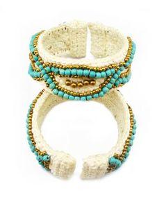 Handmade Braid Women Cuff Bracelete B-0604