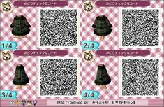 gaming QR code animal crossing new leaf new leaf acnl able sisters qr pattern acnl qr code qr design qr dress Animal Crossing 3ds, Animal Crossing Qr Codes Clothes, Yandere, Animal Games, My Animal, Ravenclaw, Mascaras Halloween, Halloween Masks, Leaf Man