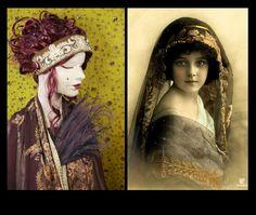 Lace Headband,Art Nouveau Head Wrap,1920s Style Headpiece,Silk Headband,Embroidered Headband,Bridal Headband,Formal Headband by Jevda on Etsy