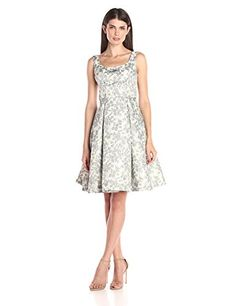 Maggy London Womens Spring Floral Brocade FitAndFlare Dress Black 10 -- Check out the image by visiting the link. Note: It's an affiliate link to Amazon.