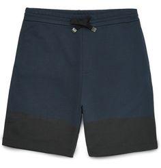 Paint-Print Cotton-Jersey Shorts   Balenciaga