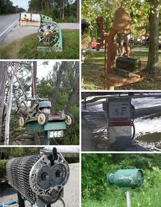 crazy mailboxes recycled items