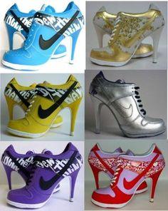 high heel sneaker......