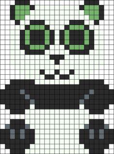 Beanie Boo panda perler bead pattern