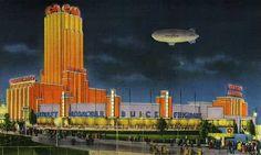Pabellón de General Motors en la Feria Progress of the Century de Chicago. 1933