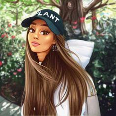 drawing of ari in San Antonio TX❤💙💚💛🧡💜🖤 Ariana Grande Drawings, Ariana Grande Wallpaper, Beautiful Drawings, Cute Drawings, Bff Images, Fille Anime Cool, Cute Kawaii Girl, Digital Art Girl, Black Women Art