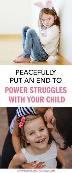 In order to resolve power struggles with your child, you first have to understand why there is attention-seeking behavior. The next step is to create a balance of power.