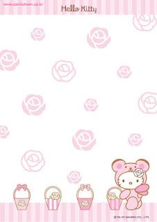 Printable hello kitty stationary Kawaii paper style and more Free Printable Not My Sugar Bits Owned