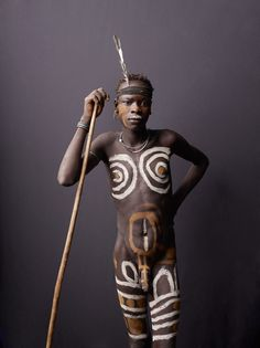 Africa | 'Study of Mursi Youth'.  Mursi tribe, Lower Omo Valley, Ethiopia.   © Joey L
