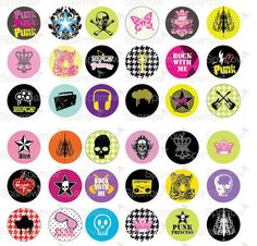 Punk Princess Super Teen Funky 1 one inch by sparrowgraphic