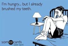 I already brushed my teeth! #invisalignprobs
