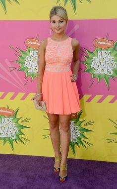 Stefanie Scott - 2013 Kids Choice Awards Want this dress so bad! Dressy Dresses, Nice Dresses, Girls Dresses, Party Dresses, Kids Choice Awards 2013, Stefanie Scott, Award Show Dresses, Windy Skirts, Only Fashion