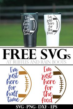 These free football SVGs and cut files will have you crafting for all the football fans in your life. We've rounded up some amazing free cut files for you! Vinyl Crafts, Vinyl Projects, Easy Homemade Gifts, Free Football, Cricut Fonts, Cricut Tutorials, Cricut Ideas, Gifts Under 10, Silhouette Cameo Projects