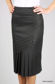 Falda con plizados