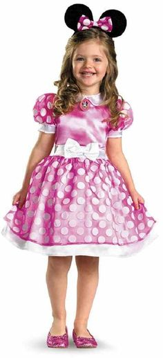 Clubhouse Pink Minnie Mouse Disney Fancy Dress Halloween Toddler Child Costume #Disguise #CompleteCostume  sc 1 st  Pinterest & Toddler Girls Minnie Mouse Costume Deluxe - Party City   Minnie ...