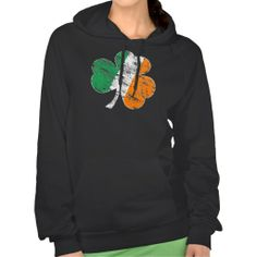 It's the very popular Irish Flag Shamrock Distressed fleece hooded sweatshirt! An awesome shirt for Saint Patrick's Day parties, or a great gift for ANY occasion!