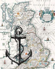 carte marine autour GB