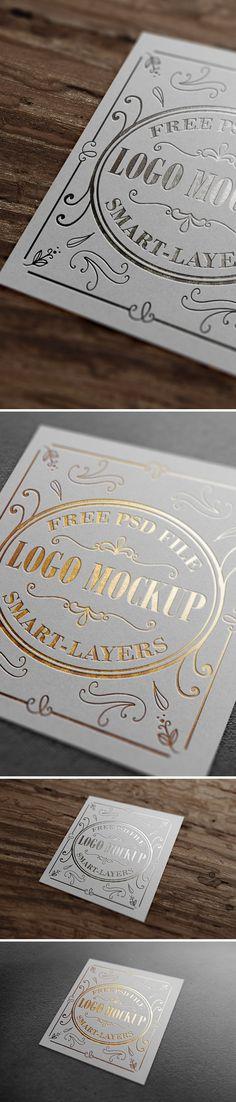 Free Gold & Silver Foil Logo Mockup (202 MB) | graphicsfuel.com | #free #mockup #photoshop