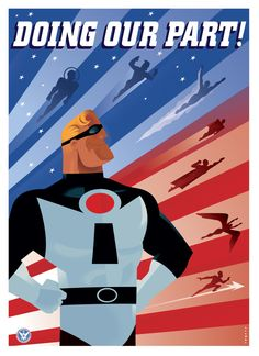 The Incredibles by Paul Rogers, via Behance