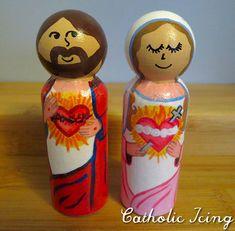 sacred and immaculate heart- printable peg dolls