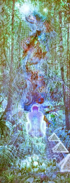 A Forested Jungle Vibrational Light Crystal Meditation Exp… | Flickr