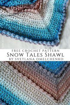 Free Crochet Patterns | Free Crochet Pattern Snow Tales Shawl - Free Crochet Patterns