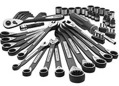 NEW NEW Craftsman 56 Piece pc Universal Mechanics Tool Set Socket Wrench Garage Auto. NEW Craftsman 56 Piece pc Universal Mechanics Tool Set Socket Wrench Garage Auto. Hand Tool Sets, Hand Tools, Craftsman Power Tools, Garage Atelier, Socket Wrench Set, Socket Set, Mechanic Tools, Mechanic Shop, Black Oxide