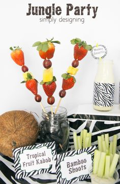 Jungle Party ideas and Monkey Smoothie Recipe #JungleFresh #shop #cbias