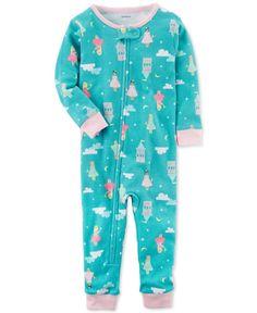 Carter's Princess-Print Cotton Pajamas, Baby Girls #babygirlpajamas