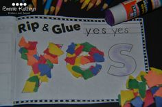 amazing sight word books - rip and stick -collaged sight words