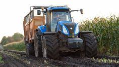 New Holland T8.390 met DeZeure aangedreven wagen Trekkerweb